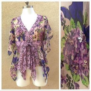 Nanette Lepore Silk Flutter Blouse 8